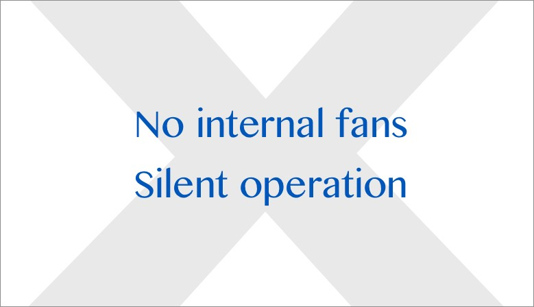 No internal fans